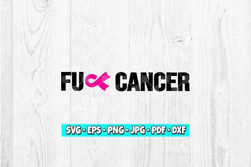 Fuck Cancer Awareness SVG | Awareness Ribbon | Cancer Ribbon | Cancer Survivor