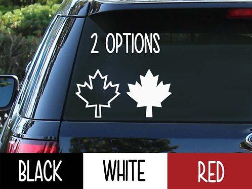Maple Leaf Car Decal | Canadian Stickers | Canada Decal | Leaf Car Decal