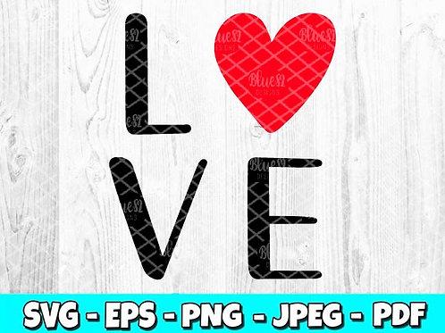 Love | Valentines Day SVG, EPS, PNG, JPEG, PDF