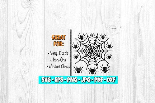 Spiderweb & Spiders | Halloween | Digital | Spider Decal