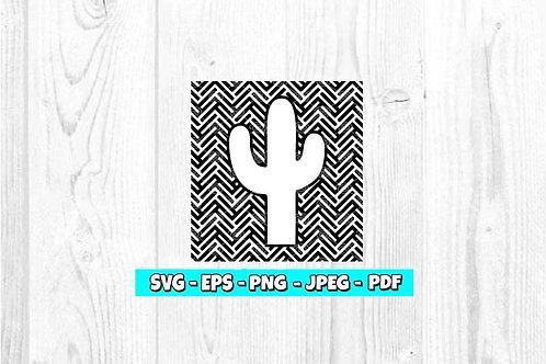 Cactus Herringbone SVG