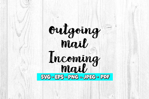 Outgoing & Incoming Mail SVG (Digital Only)