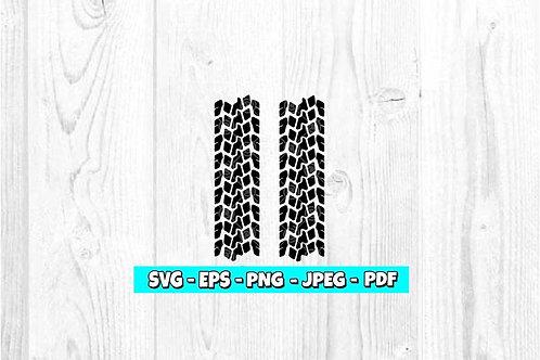 Tire Tracks SVG