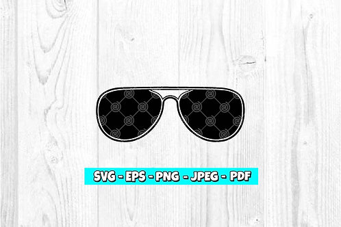 Aviator Sunglasses SVG (Digital Only)