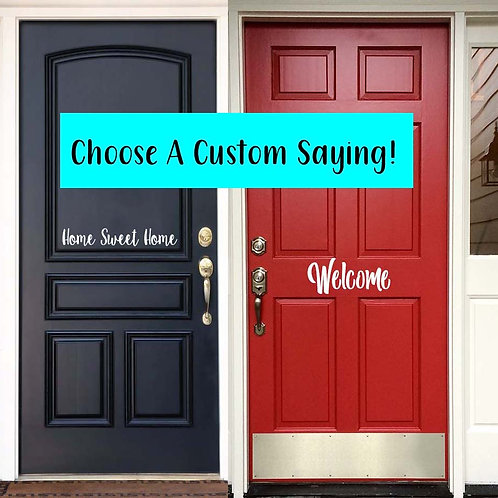 Custom Vinyl Door Decal