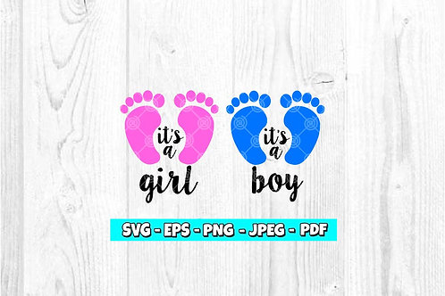 It's a Boy & It's a Girl SVG (Digital Only)