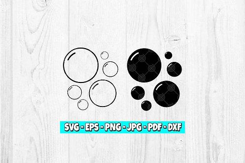 Bubbles SVG | Outline Bubble svg | Silhouette Bubble svg