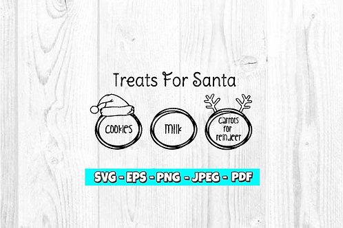 Santa Tray SVG (Style 1)