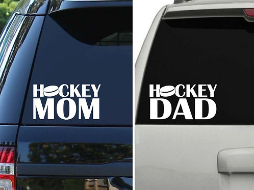 Hockey Mom / Hockey Dad Car Decal