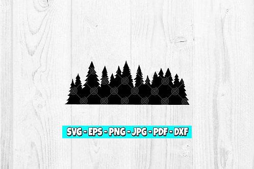 Forest SVG | Trees svg | Landscape svg | Nature svg | Trees Silhouette svg