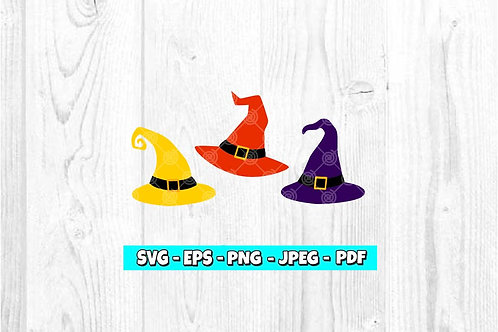 Hocus Pocus Witches Hats SVG
