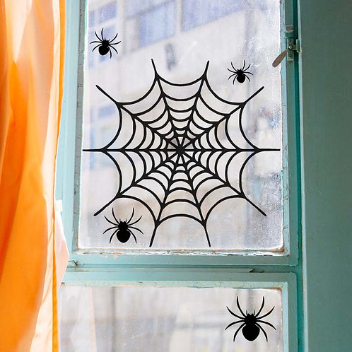 Spider Web Decal (REMOVABLE) | Spider web | Spider Decal | Window Decal