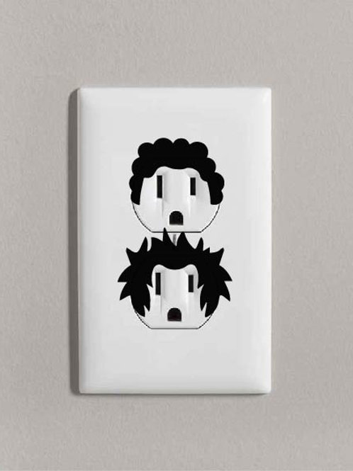 Hair Outlet Decals | Home Decor | Afro | Rock N' Roll |Funny Outlet Decal