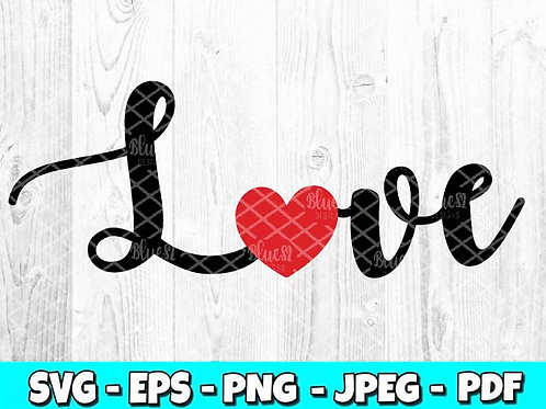Love - Style 1 | Valentines Day SVG, EPS, PNG, JPEG, PDF
