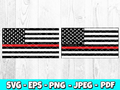 Thin Red Line Flag | Firefighter Flag (Digital Only)