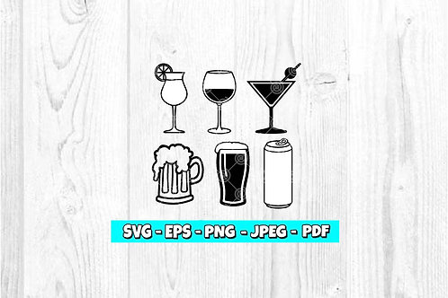 Drinks SVG (Digital Only)