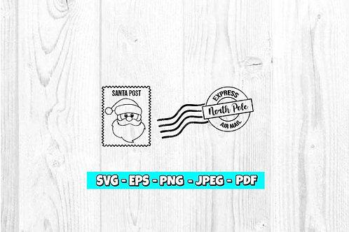 Santa Stamp SVG
