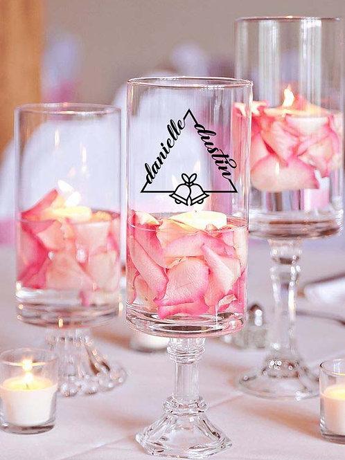 Wedding Triangle With Custom Names (Vinyl Decal)