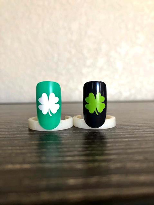 St. Patrick's Day Nail Decals | Clover Leaf | 4 Leaf Clover | Clover Nail Decals
