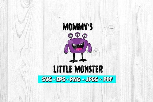 Mommy's Little Monster SVG | Monster SVG | Halloween SVG | Kids SVG