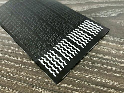 100 Wave Line Nail Decals | Nail Art | Nail Stickers