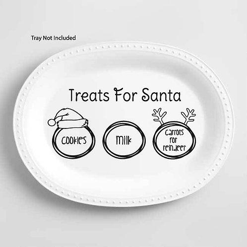 Dear Santa Tray | Christmas | Dear Santa | Santa Cookie Tray | Santa Plate