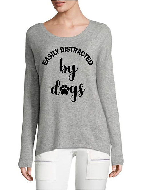Easily Distracted By Dogs Iron On Decal | Dog Iron On | Cute Iron On