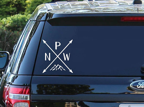 PNW / Pacific Northwest (Car Decal)