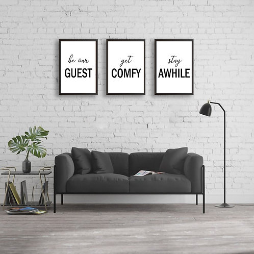 Be Our Guest Signs | Home Décor | Guestroom Sign | Cute Home Decor