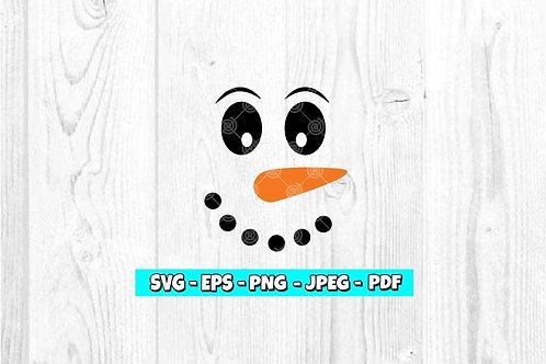 Snowman Face SVG