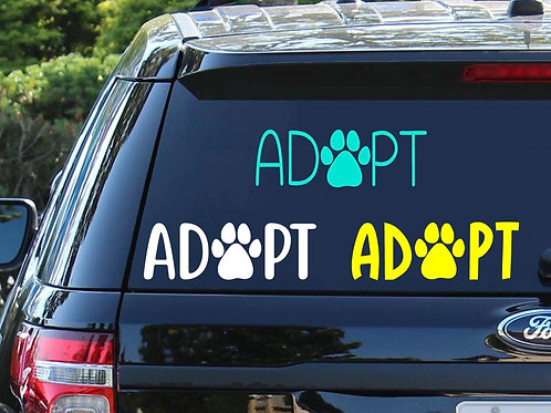 Adopt Pet Decal Car Decal | Dog Decal | Cat Decal | Rescue Decal
