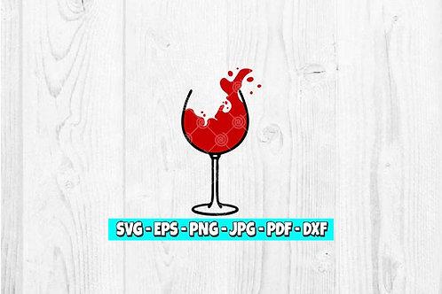Wine Splash SVG | Drinks svg | Wine svg | Drinking svg