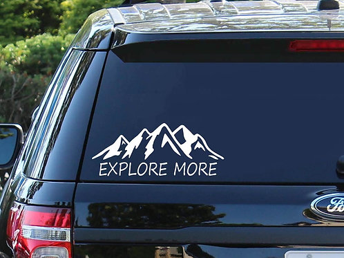 Explore More Car Decal | Mountain Decal | Travel Decal | Exploring Decals