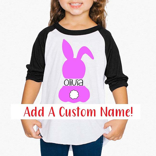 Custom Easter Bunny Back Decal | Easter Decal | Personalized Name