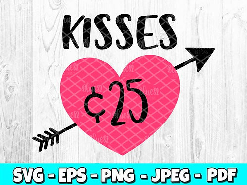 Kisses 25 Heart | Valentines Day (Digital Only)