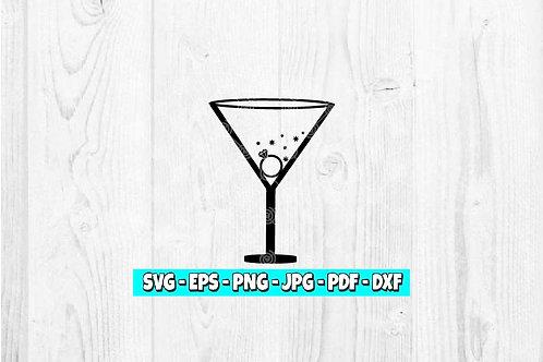Martini SVG | Engagement Ring svg | Bachelorette Party svg | Bride svg