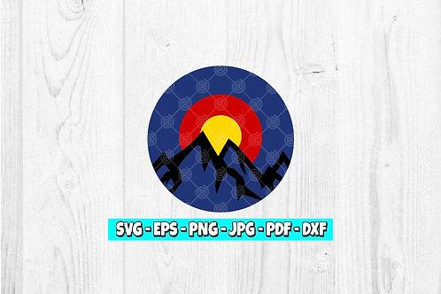 Colorado Mountain SVG | Mountain svg | Colorado svg | Sunset svg