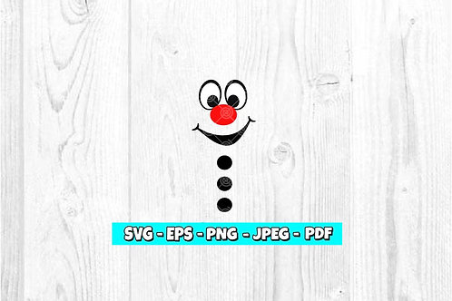 Snowman Face With Red Nose SVG