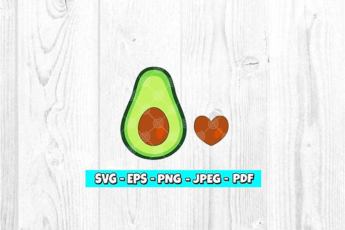 Avocado SVG (Digital Only)