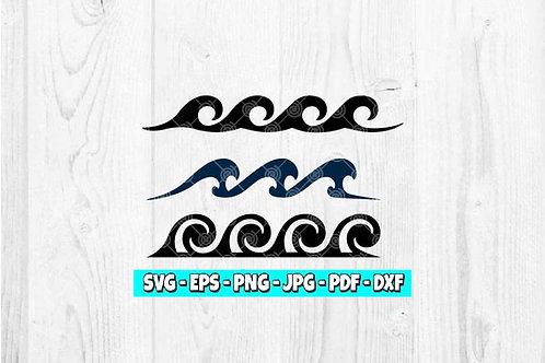 Waves SVG   Spiral Waves svg   Beach Waves svg   Nautical svg   Ocean svg