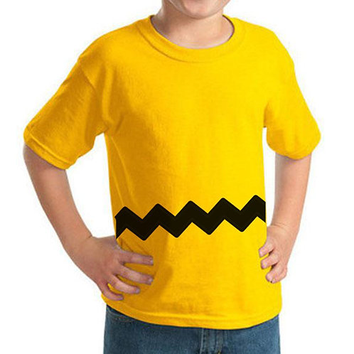 Charlie Brown Iron On | Zig Zag |  Halloween Costume | Kids Iron On