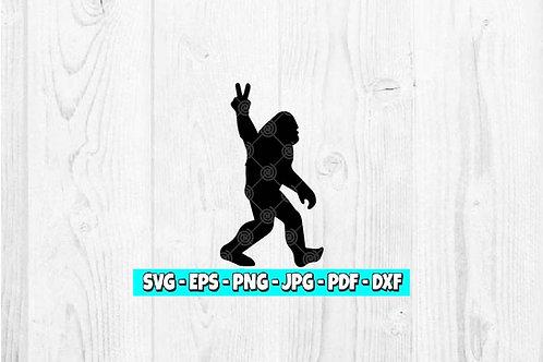 Bigfoot Peace SVG | Sasquatch svg | Bigfoot Clipart | Peace Sign svg