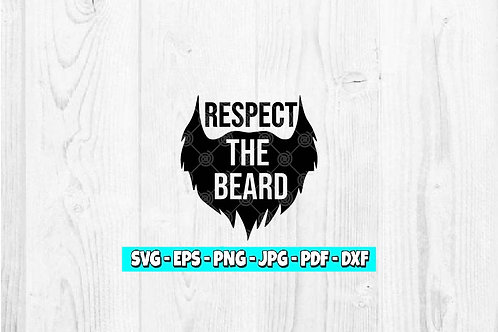 Respect The Beard SVG   Beard Silhouette   Fathers day svg   Facial Hair svg