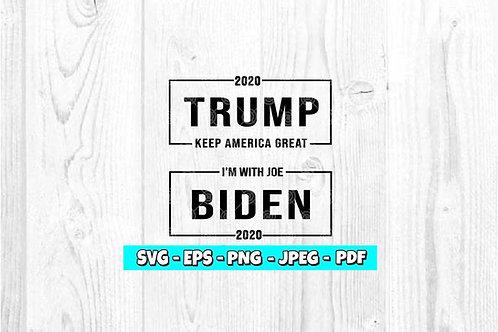 Biden & Trump SVG | President SVG | Election SVG | Trump SVG | Biden SVG