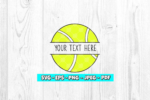 Tennis Ball - Custom SVG