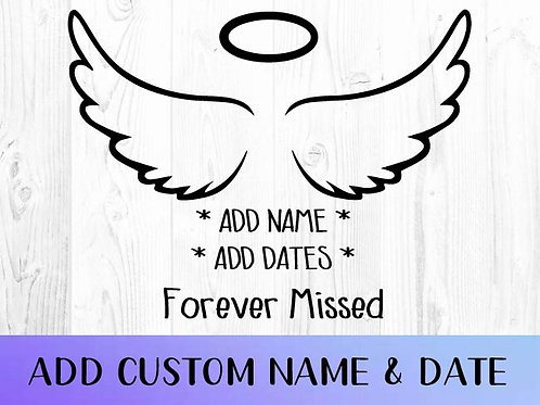 Angel Wings Car Decal | Mourning Decal| Grief Decal | Faith Decal