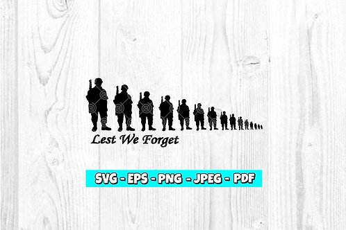 Lest We Forget SVG (Digital Only)