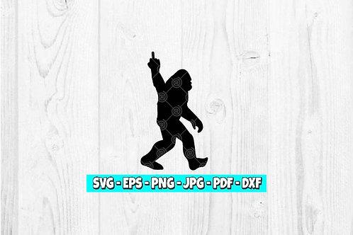 Bigfoot Middle Finger SVG | Funny | Sasquatch svg | Bigfoot Clipart