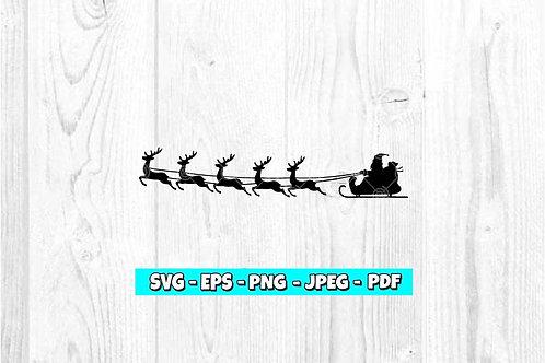 Santa Sleigh SVG