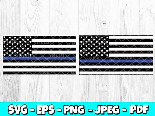 Thin Blue Line Flag | Police Flag (Digital Only)